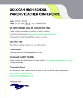 OHS Parent/Teacher Conferences